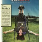 Ozzy on a Teeter Hang Ups Inversion Table