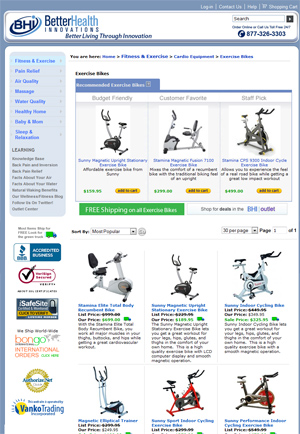 Better Health Innovations Fitness Equipment