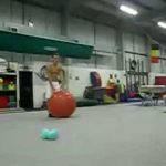 Amazing Exercise Ball Trick!
